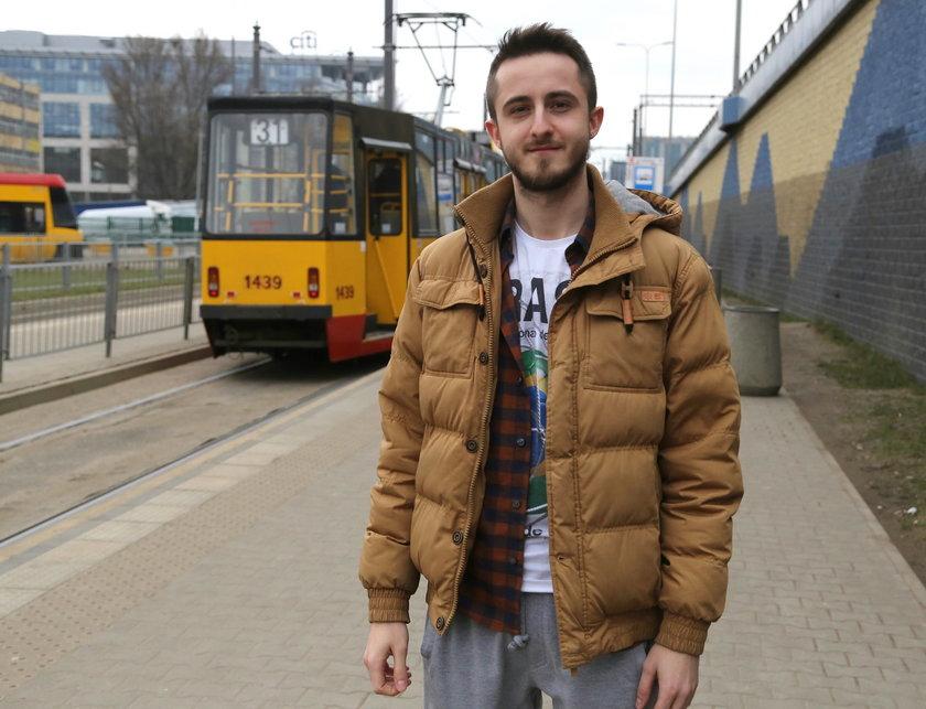 Adrian Kański (24 l.), pasażer