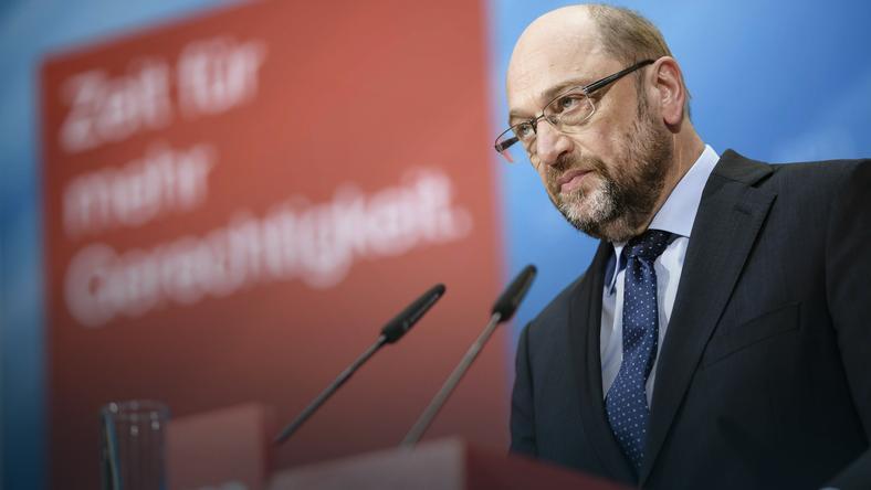 Kandydat SPD na kanclerza Martin Schulz