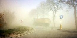 Burza piaskowa na Mazowszu. Zderzyły się ciężarówki