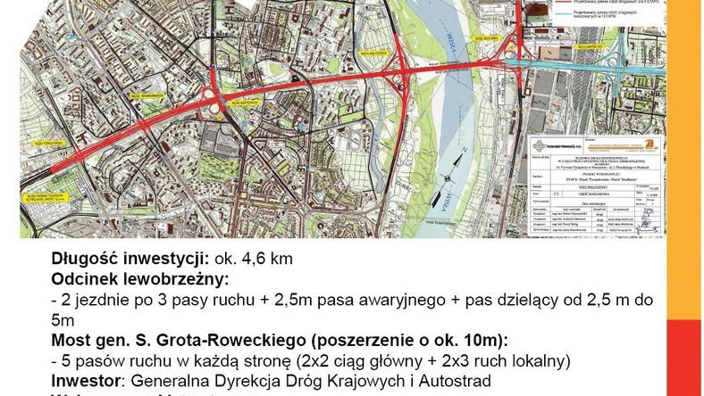 Generalna Dyrekcja Dróg Krajowych i Autostrad kontynuuje przebudowę do parametrów drogi ekspresowej S8 trasy od ul. Powązkowskiej do Marek (ul. Piłsudskiego). Jak informują drogowcy do rozebrania i zbudowania od nowa są 33 obiekty...