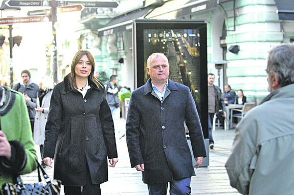 Irena Vujović i Goran Vesić