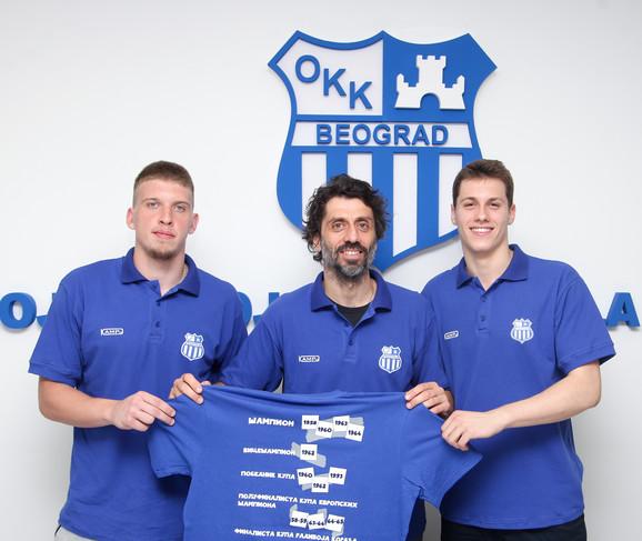 Branko Milisavljević sa pojačanjima Markom Brekićem i Aleksom Markovićem