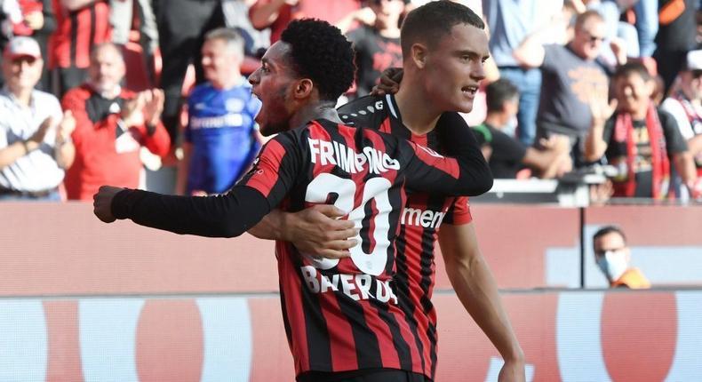Florian Wirtz (R) is the youngest player to score 10 Buundesliga goals in his fledgling career Creator: Roberto Pfeil