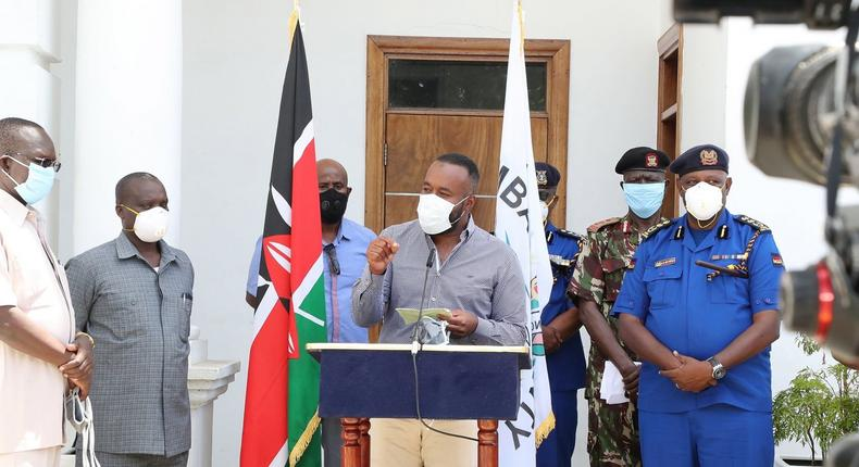 Mombasa Governor Hassan Joho asks police to distribute facemasks instead of arresting Kenyans