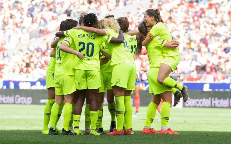 Barcelona Femeni were victorious at the Wanda Metroplitano Stadium (Twitter / Barcelona Femeni)