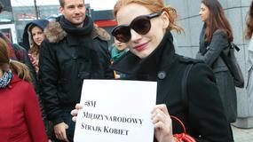 Jessica Chastain wspiera Polki w Międzynarodowym Strajku Kobiet. Zobaczcie zdjęcia