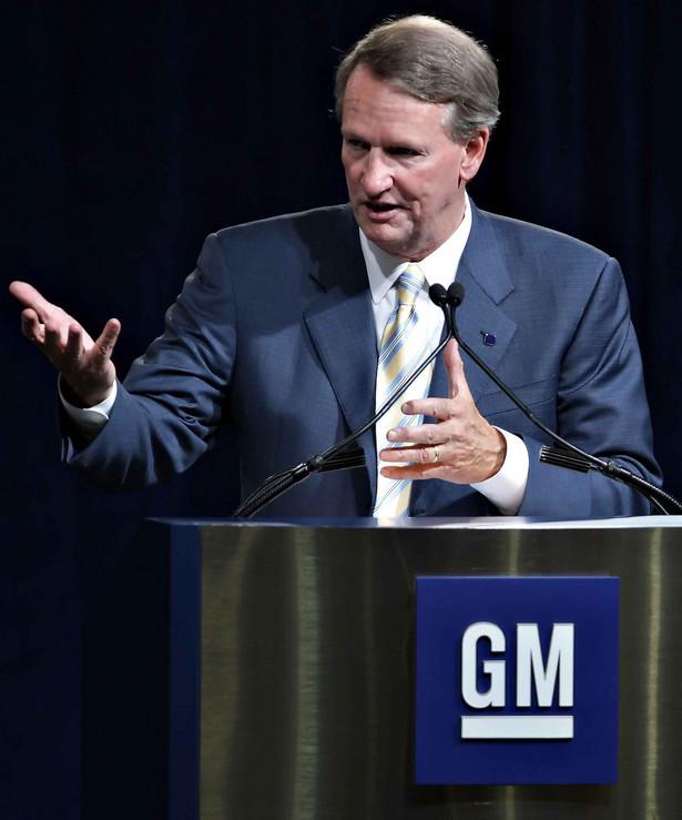 Prezes General Motors Rick Wagoner zrezygnował ze swej funkcji pod presją Białego Domu. Fot. Bloomberg