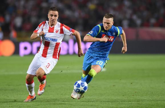 Branko Jovičić (Zvezda) i Pjotr Zjelinski (Napoli) vodili su veliku borbu u prvom meču na