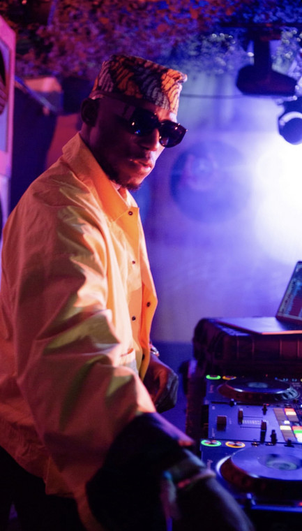 DJ Spinall performs at Glastonbury Festival, 2019. (BWL Agency)
