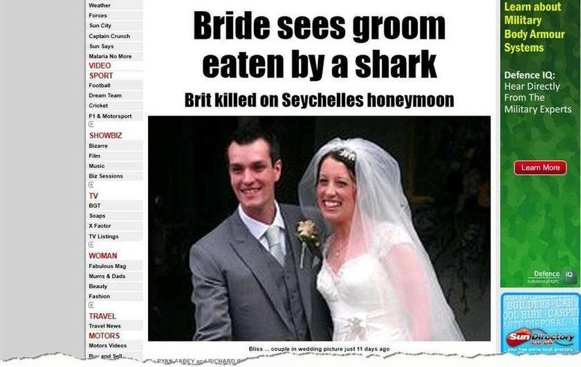 Rekin zjadł pana młodego