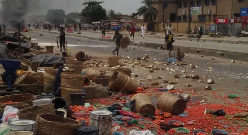Hausa and Yoruba traders clash at Ile-Epo market (Punch)