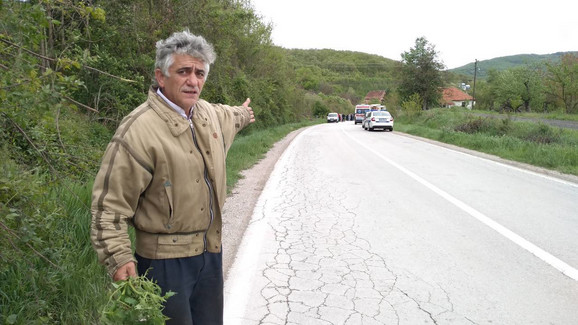 Radojica Milosavljević stajao je na autobuskoj stranici kad je došlo do nesreće
