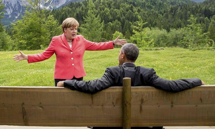 Barak Obama, Angela Merkel, Sastanak
