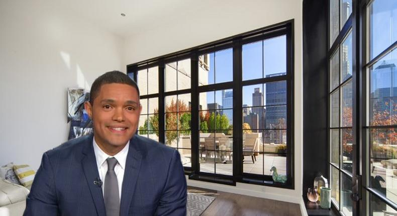 Trevor Noah and his new penthouse.