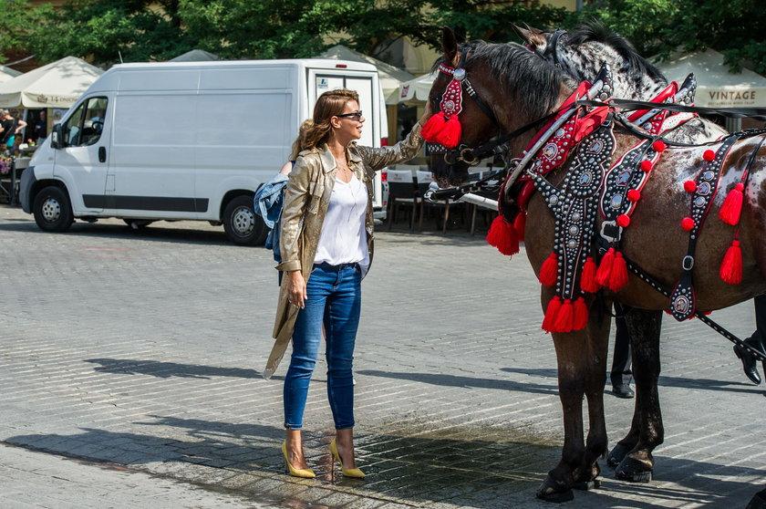 Edyta Górniak z koniem