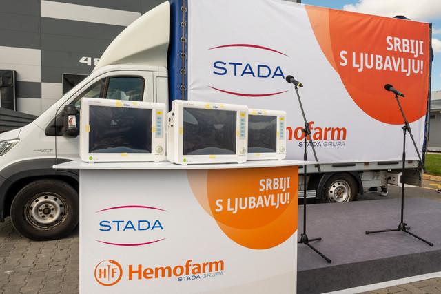 Hemofarm, donacija, medicinski monitori