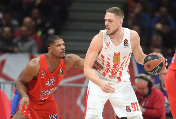 Detalj sa meča Crvene zvezde i CSKA iz Moskve