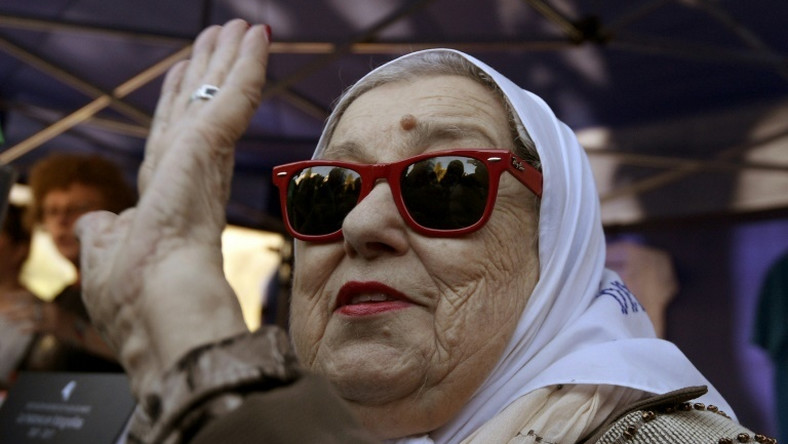 Hebe de Bonafini, pictured in 2017, is a founder of the Mothers of the Plaza de Mayo movement that has spent four decades searching for the truth behind the disappearance of their children
