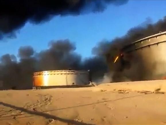Zapaljen naftni terminal u Al Sidri u