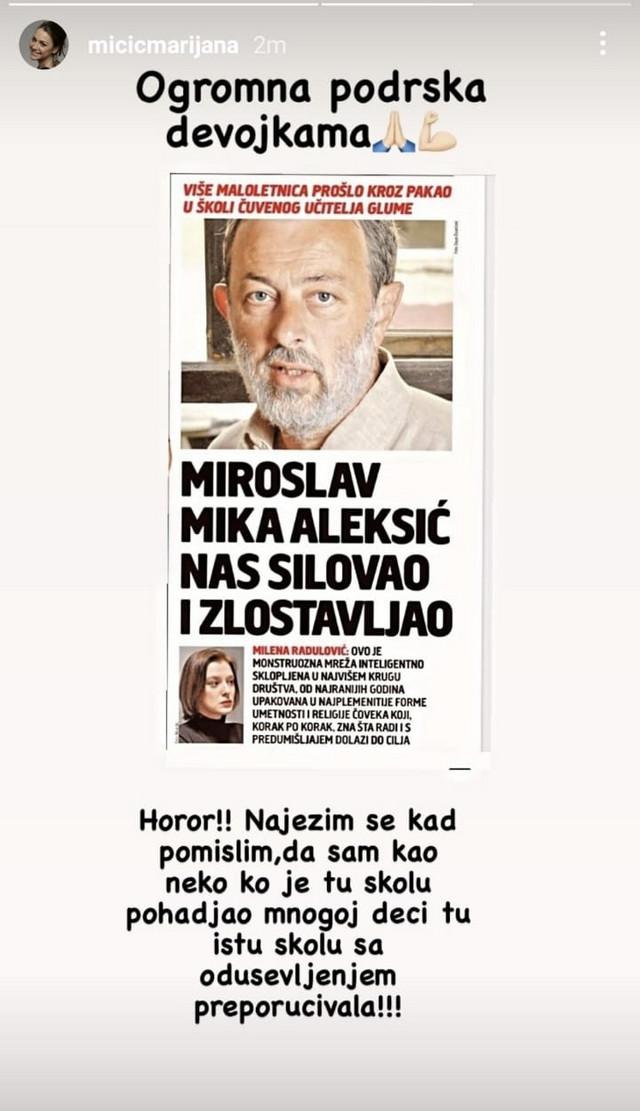 Objava Marijane Mićić
