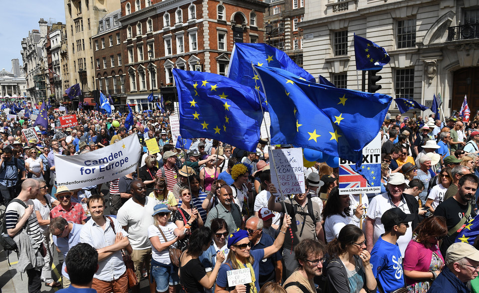 epa06833218 - BRITAIN BREXIT PEOPLE'S MARCH DEMONSTRATION (People's March Against Brexit)