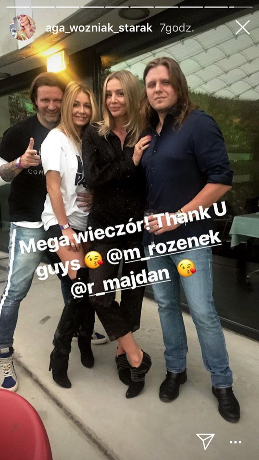 Agnieszka Woźniak-Starak z mężem Piotrem i Małgorzata Rozenek-Majdan z mężem Radosławem