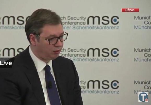 Aleksandar Vučić na panelu u Minhenu