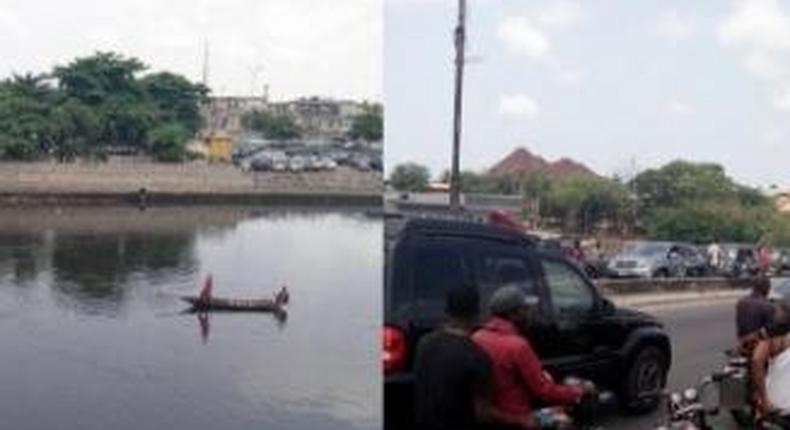 Man jumps into canal along Festac link bridge
