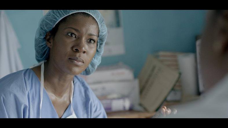 Stephanie Linus as Dr Zara in the movie, 'Dry.'