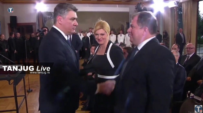 Milanović sa bivšom predsednicom Hrvatske Kolindom Grabar Kitarović i njenim suprugom Jakovom Kitarovićem