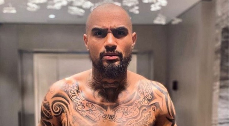 Kevin-Prince Boateng goes wild in his night outfit and this is not just a normal boxer short