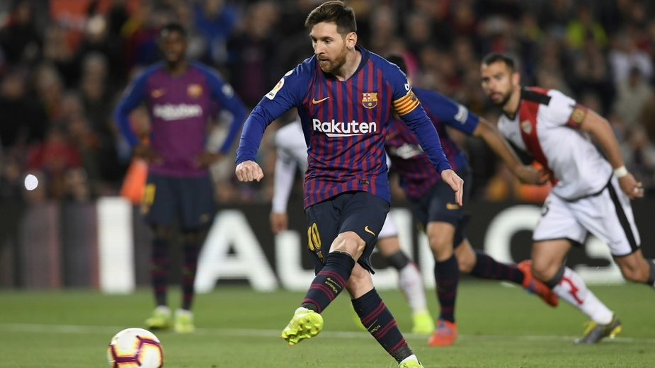 Ostatnim razem Barça wygrała z Rayo 3:1. Na zdjęciu Leo Messi