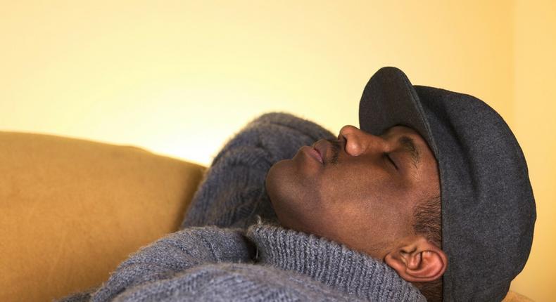 Man sleeping(Ebony)
