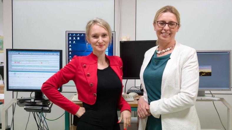 Od lewej dr hab.n. med. Anna Gawron - Skarbek i dr n. med. Izabela Grabska - Kobylecka