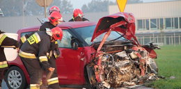 We Wrzoskach zderzyły się 3 auta
