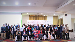 """Participants at the Root of Change Learning Conference: """"Together we innovated and overcame: how we worked with rural women to break down barriers to financial inclusion"""", 15th September 2021 at the Alisa Hotel, Accra."""