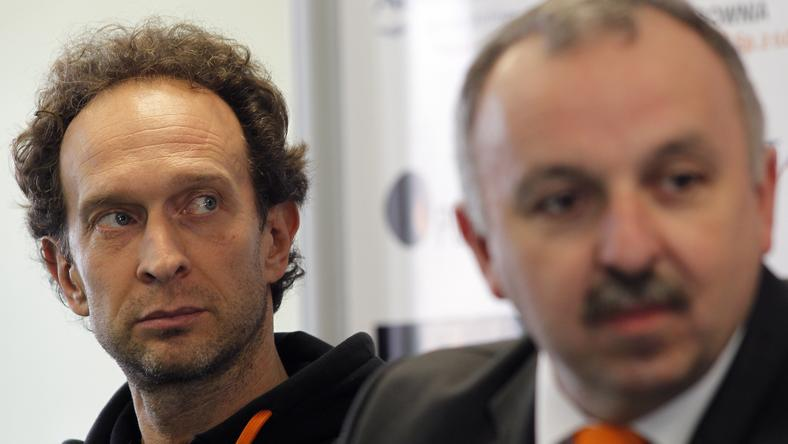 Lorenzo Bernardi (z lewej) i Zdzisław Grodecki (prezes Jastrzębskiego Węgla)