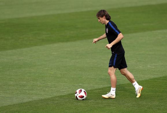 Luka Modrić na treningu