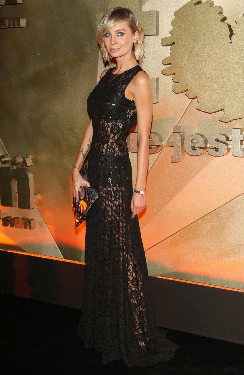 Agnieszka Szulim na balu w 2014 roku
