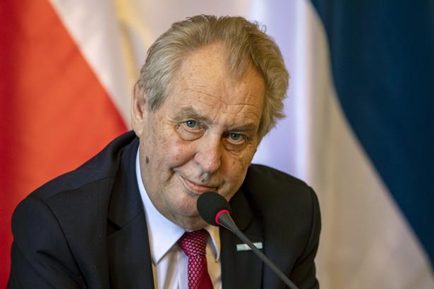 Czeski prezydent leży od niedzieli na oddziale intensywnej opieki