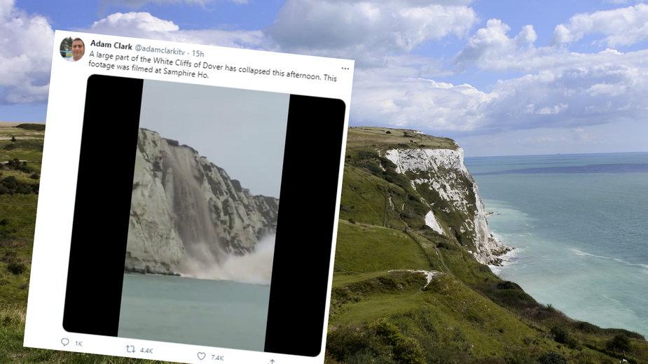 Do kanału La Manche runęły fragmenty Białych Klifów