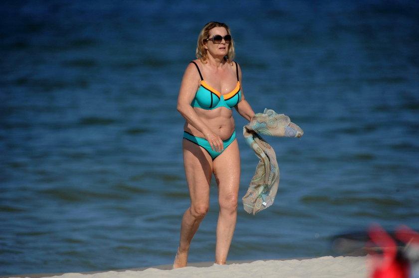 Grażyna Szapołowska w bikini