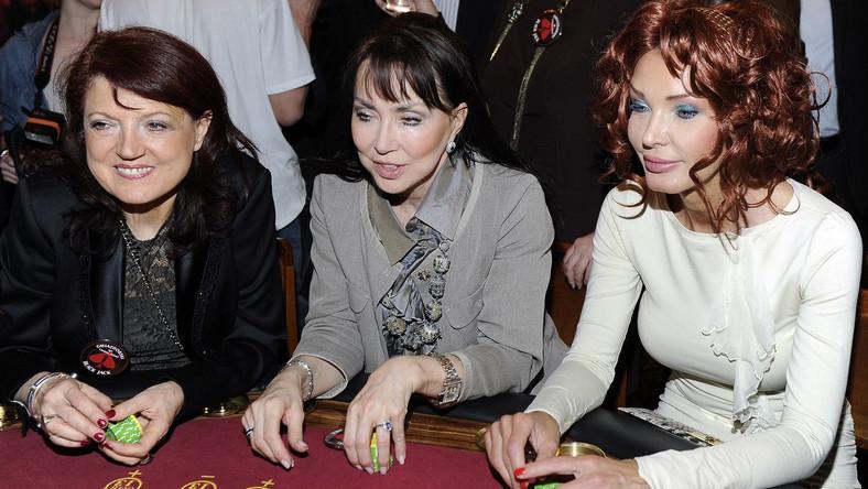 Od lewej: wokalistka Urszula Dudziak, aktorka Ewa Kuklińska i projektantka mody Ewa Minge