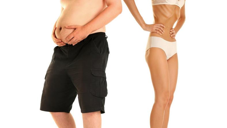 Małżeństwa, w których kobieta jest szczuplejsza od mężczyzny są bardziej satysfakcjonujące niż te, w których proporcje masy ciała są odwrócone.