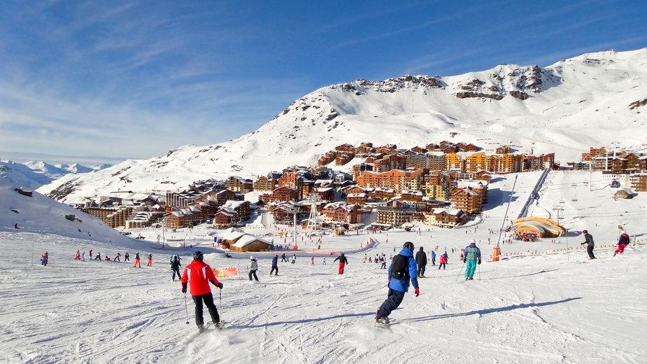 Stok narciarski w Val Thorens, Francja