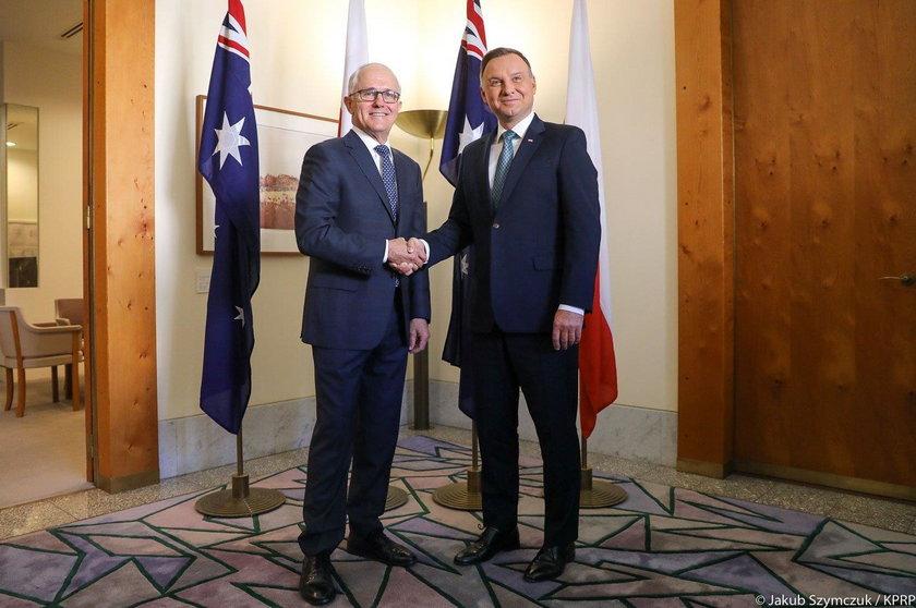 Malcolm Turnbull i Andrzej Duda