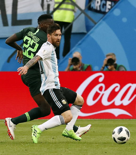 Mesi na meču sa Nigerijom
