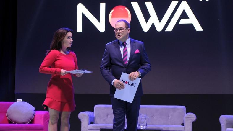 Sukienka, w której dziennikarka pojawiła się na spotkaniu inaugurującym powstanie nowej telewizji, była naprawdę krótka... Tak krótka, że aż trochę zniekształcała figurę, a w dodatku...