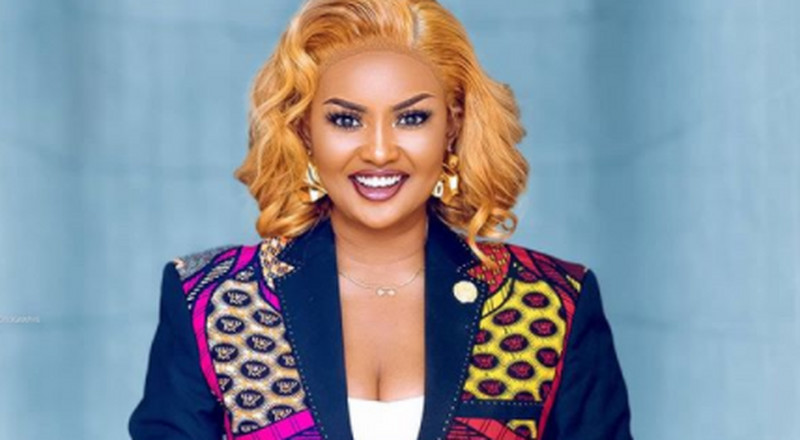 Woman crush: Nana Ama McBrown is an absolute stunner in pants and blazer