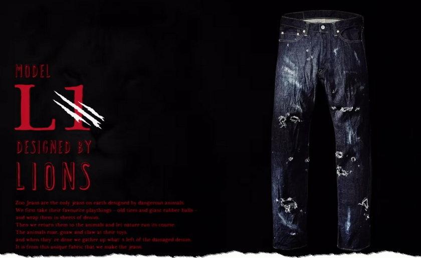 Spodnie zaprojektowane przez dzikie zwierzęta